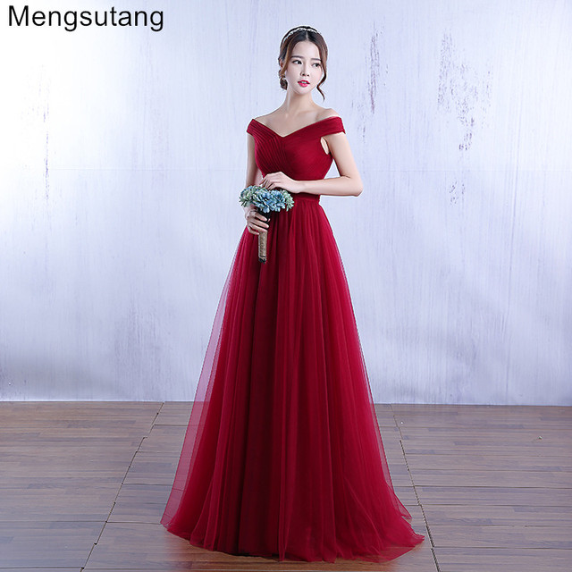 acb614f00cd US $40.84 18% OFF|Aliexpress.com : Buy Robe de soiree 2019 wine red lace up  evening dress Elegant party dress vestido de festa prom dress Tailor ...