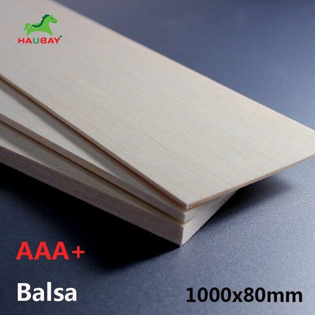 HAUBAY пробкового дерева 1000x80x1/1,5/2/2,5/3/4/5/6/8 мм из бальзового дерева деревянные листы DIY Много 5 шт Длинные для крафта деревянный распродажа
