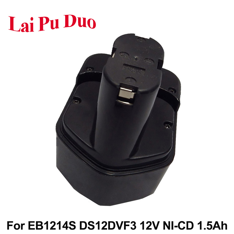For Hitachi EB1214S <font><b>1.5Ah</b></font> <font><b>12V</b></font> NI-CD Power Tool Replacement <font><b>Battery</b></font> DS12DVF2 DS12DVF3 FWH12DF EB1220HL EB1220HS WH12DM2 EB1230X image
