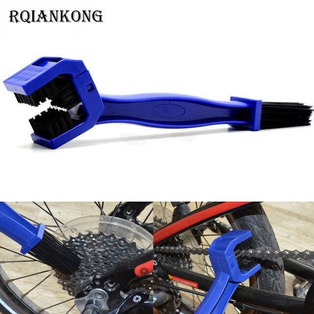 Motorcycle Chain Clean Brush Cleaner Scrubber Brush Tool Bicycle Chain Clean For Kawasaki KX65 KX85 KX100 KX125 KX250 KX250F