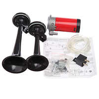 12V Car Boat Truck 178db Air Horn Compressor Dual Tone Trumpet Ultra Loud Kit