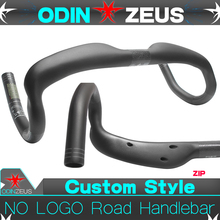 OdinZeus Ultra-light Superstrong No Logo UD Gloss/Matte Full Carbon Road Bicycle Racing Handlebar Bent Bar 31.8mm*400/420/440mm newest road bicycle windreaver racing ud full carbon handlebar internal cable carbon bike handlebar 31 8 400 420 440mm free ship