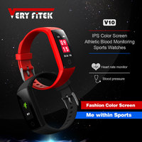 VERYFiTEK V10 Smart Band Blood Pressure Watch Heart Rate Monitor Smart Bracelet Fitness Tracker Pedometer Wristband