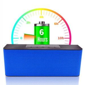 Image 4 - Nby 5540 przenośny głośnik Bluetooth Radio FM bezprzewodowy głośnik niskotonowy głośnik 3D Stereo Boombox dwa głośniki komputer bas TWS