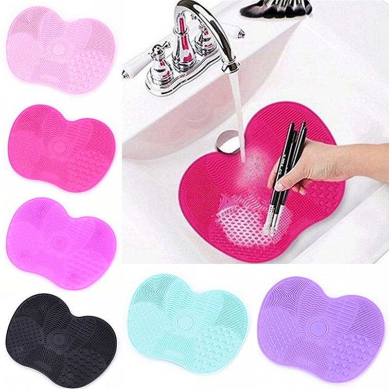 Makeup Brush cleaner Silicone Mat Make Up Washing Brushes Cosmetic Gel Board Cleaning Pad Cleaner Scrubber Tools