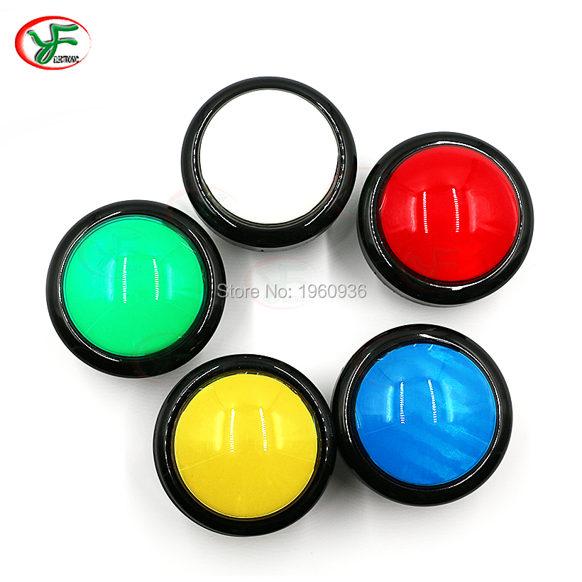 100mm Big Round Push Button LED Illuminated with Microswitch for DIY Arcade Game Machine Parts 5/12V Large Dome Light Switch(China)