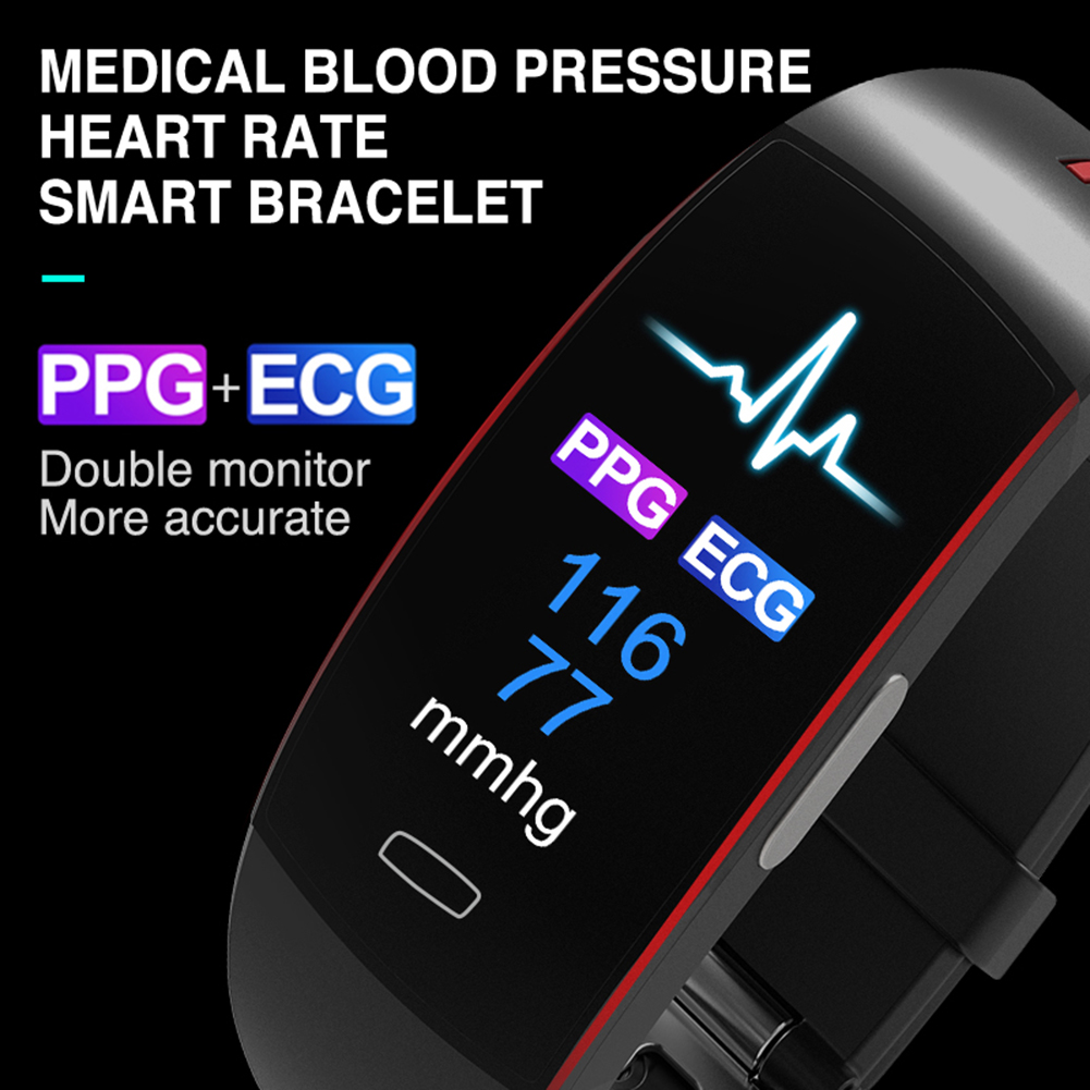ECG+PPG Blood Pressure Heart rate Monitor Pedometer Sports Bracelet for IOS Android IP67 waterproof Original <font><b>P3</b></font> <font><b>Smart</b></font> <font><b>Band</b></font> image