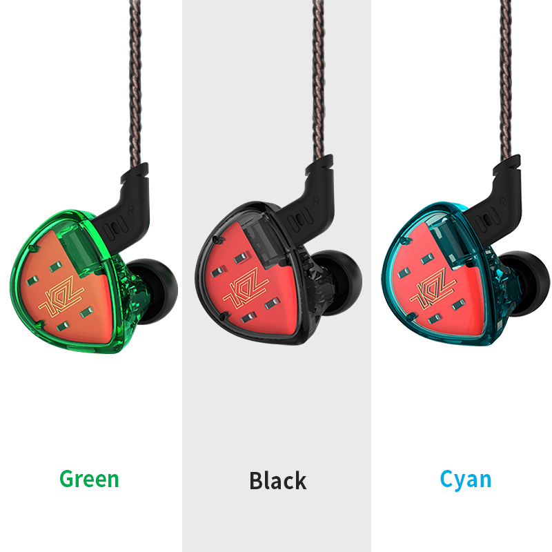 KZ ES4 In Ear Monitors Armature Dynamic Hybrid Headset Ear Earphone Earbuds HiFi Super Bass Noise Cancelling Ear Hooks ZS10 AS10 original kz zst colorful ba dd in ear earphone hybrid headset hifi bass noise cancelling earbuds with mic replaced cable as10