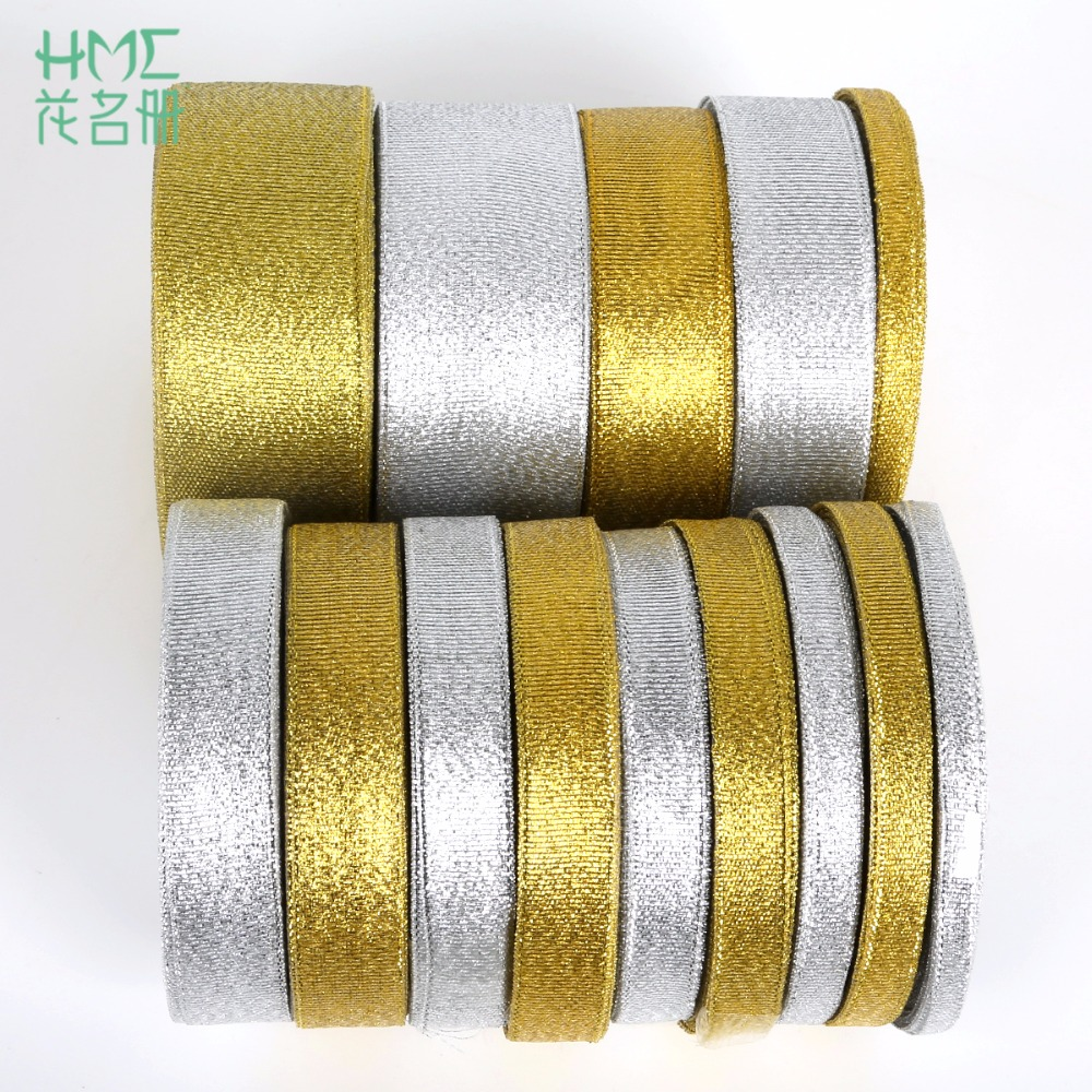 25 Silver White Red Christmas Wedding 38mm Rose Gold Metallic Wired Ribbon 15