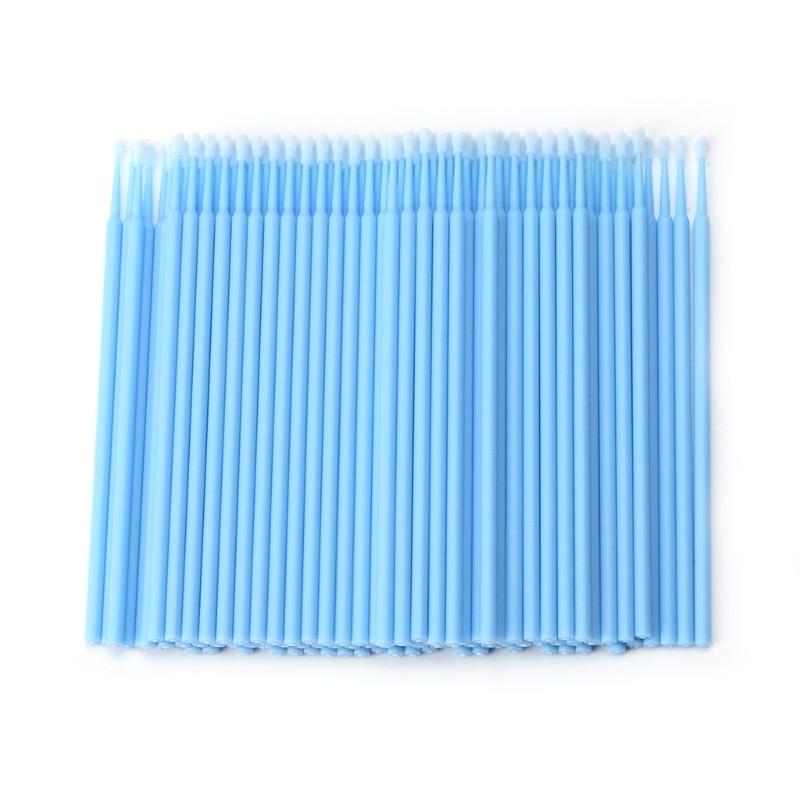 100Pcs Disposable Makeup Brushes Individual Lash Micro Brush Eyelash Extension Tools Travel Portable Cosmetic Tools 5 Color
