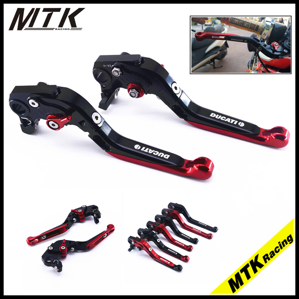 MTKRACING Motorcycle CNC adjustable folding Extendable  brake clutch levers for ducati monster 696 695 796 400 620 S2R ST4S simfer f66gl42001