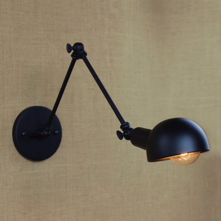E27 Base Retro Loft Industrial LED Vintage Wall Lamp light Wall Sconce Adjustable Handle Metal Rustic Loft Light Sconce Fixtures (11)
