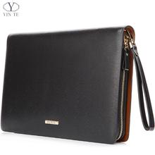 Здесь можно купить   Fashion Classic Men Business Folder Bag ,A4 Paper Document Business Clutch Bag Famous Brand Zipple Wallet Handbag Two Color Wallets & Holders