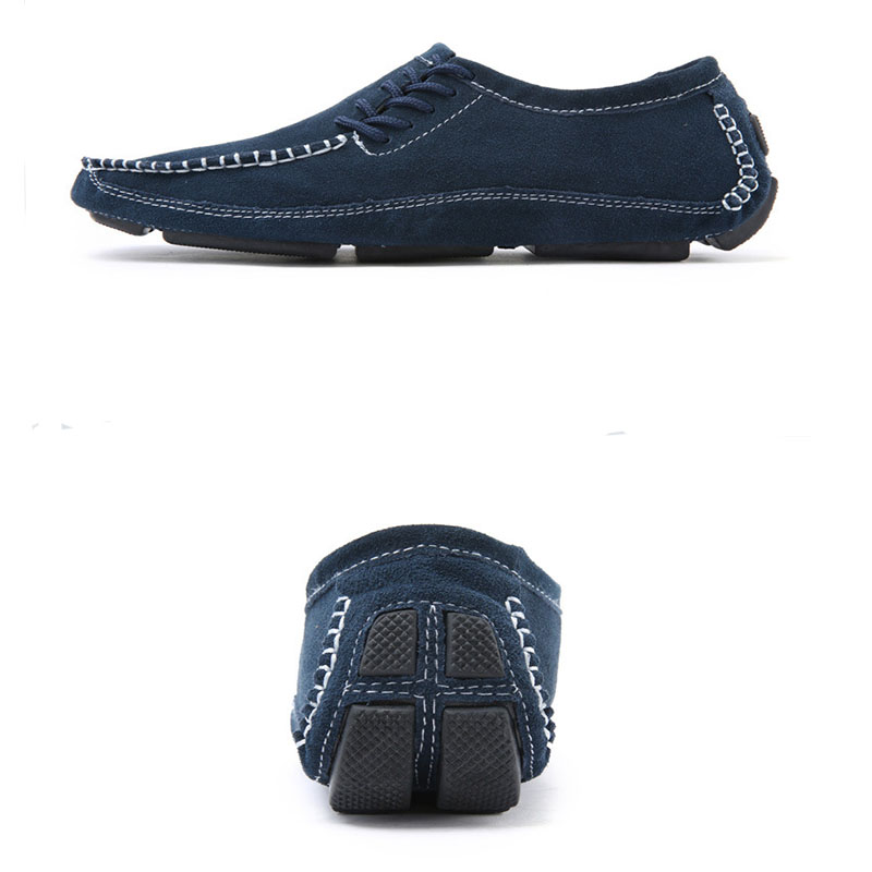 Classic Comfortable Men Casual Shoes Loafers Men Shoes Quality Split Leather Shoes Flats Mens Moccasins Boat Shoes Plus Size in Men 39 s Casual Shoes from Shoes
