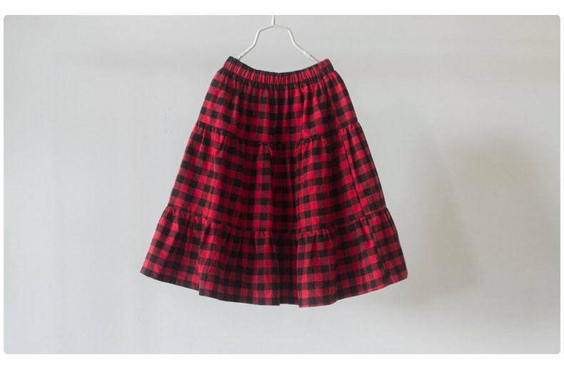 England style long skirts for baby teenage girls red plaid pleated skirt girl 2017 new spring autumn winter children clothing 5 6 7 8 9 10 11 12 13 14 15 16 years old little big teenage girls pleated skirts for kids (11)