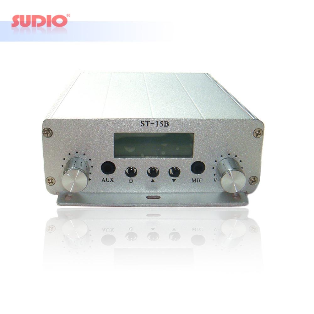 Prix pour Mise à jour 15 W FM émetteur de radiodiffusion UFA SER ST-15B-V3 stéréo PLL radio diffusion avec 76MHz-108MHz-100khz, Drop Shipping