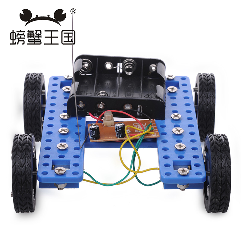 PW M036 DIY Mini RC Car with Remote controller Technology Invention Funny Puzzle Education Car Toy wenhsin pw m25 diy mini rc tank with