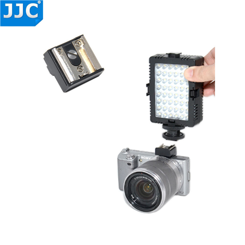 JJC MSA-6 Smart Accessory Terminal To Standard Hot Shoe Flash Microphone Adapter For Sony NEX5 NEX 5N NEX C3 NEX 3 Camera