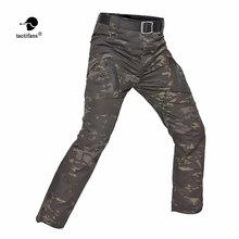Spodnie taktyczne Outdoor Hiking Cargo IX9 City mężczyźni bojowe SWAT Army Military Cotton multi-kieszenie Stretch elastyczne spodnie S-5XL tanie tanio TACTIFANS Bawełna mieszanki Pasuje prawda na wymiar weź swój normalny rozmiar