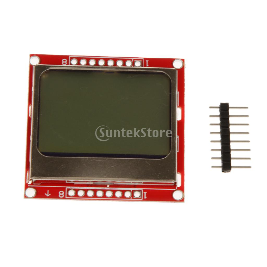 84*48 LCD Display Screen Module Red Backlight Adapter PCB for Nokia 5110