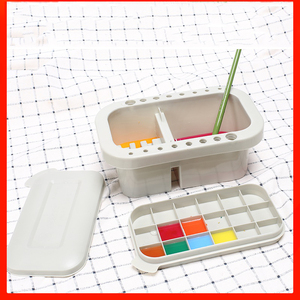 Image 5 - Multifunction Wash Pen With Palette Gouache Watercolor Acrylic Paint Wash Bucket for Drawing Art Supplies