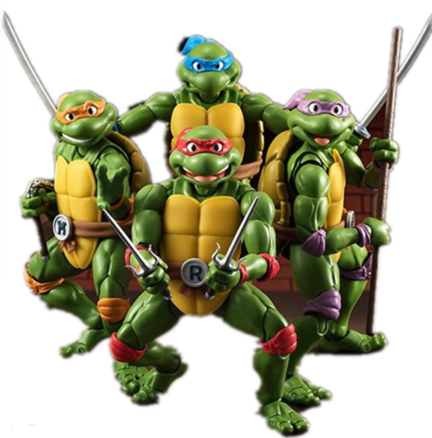 Hot Sales High Quality Anime Figures Leonardo Donatello Michelangelo Raphael PVC Collectible Action Figures Model Turtles Toys image