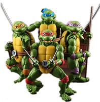 New ShFiguarts Anime Figures Leonardo Donatello Michelangelo Raphael PVC Collectible Action Figures Model Turtles Toys 15cm