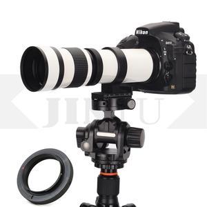 JINTU White 420-800mm F/8.3-F16 MF Focus Telephoto Zoom Lens + adapter for CANON Nikon