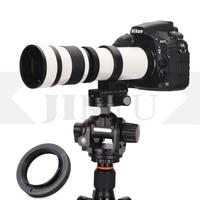 JINTU White 420 800mm F/8.3 F16 MF Focus Telephoto Zoom Lens + adapter for CANON Nikon Sony Pentax Olympus Panasonic Fuji Camera