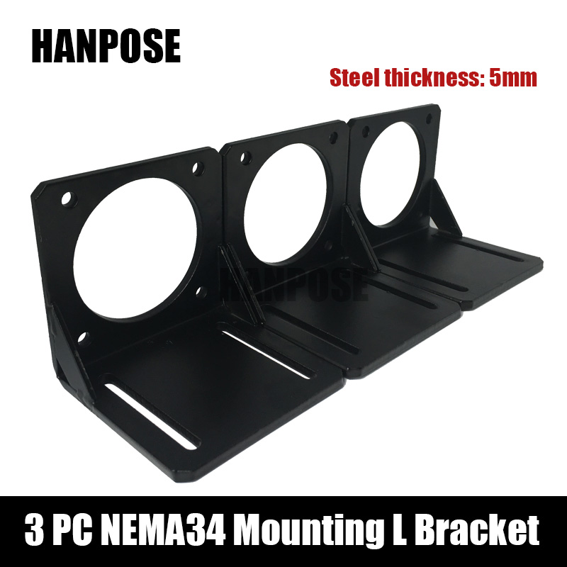 Free shipping 3D printer 3pcs <font><b>Nema</b></font> <font><b>34</b></font> Stepper <font><b>Motor</b></font> <font><b>mounting</b></font> L bracket for nema34 <font><b>motor</b></font> image