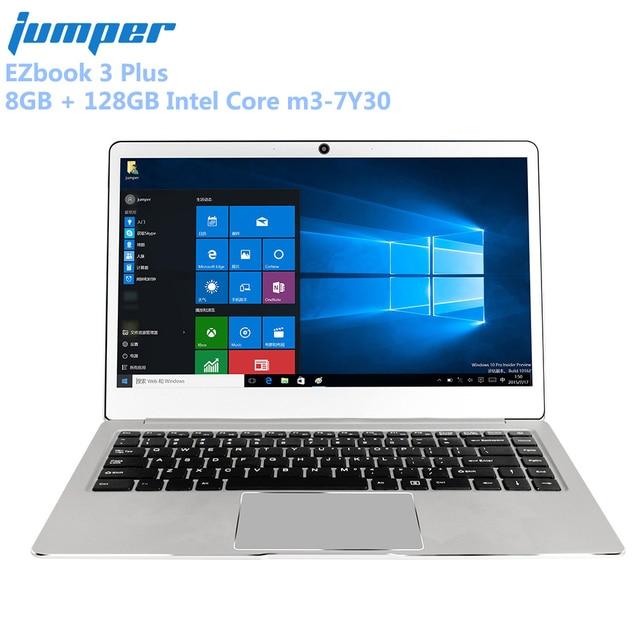 Jumper EZbook 3 Plus Laptop 14.0'' 1080P 8GB + 128GB Windows 10 Home Intel Core m3-7Y30 Dual WiFi Notebook Computer Metal Case