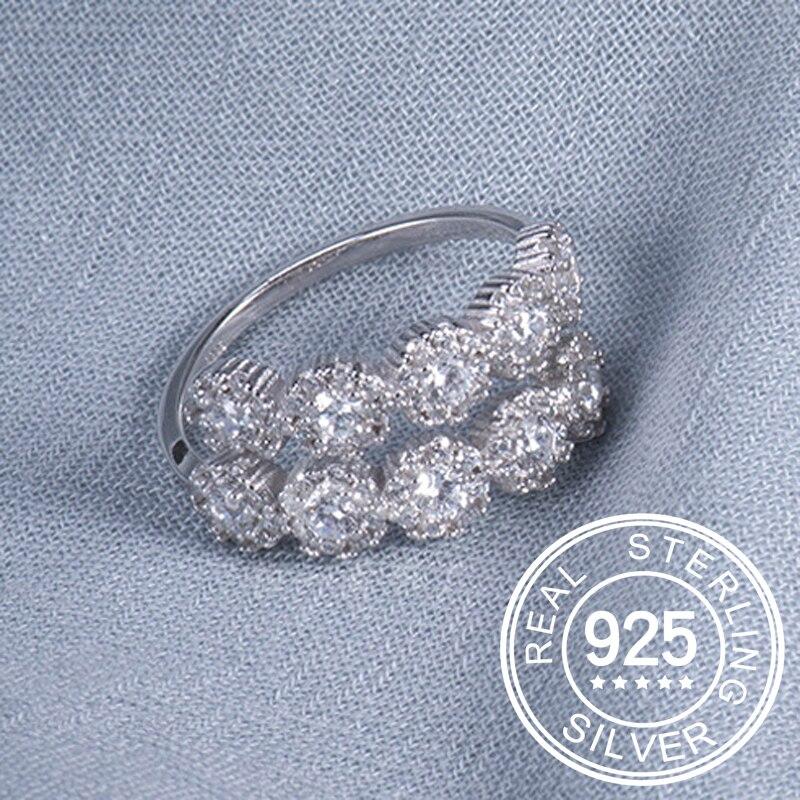Новые поступление 925 серебряные кольца для женщин AAA Цирконий Элегантный дизайн Серебряное кольцо размер регулируемый Золотое кольцо девуш...