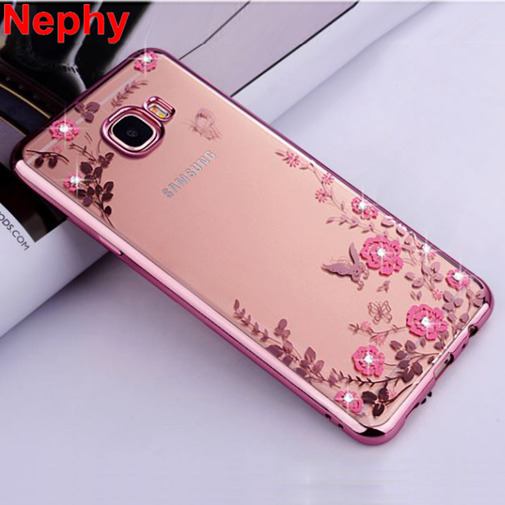 Nephy Case For Samsung Galaxy A3 A5 A7 2015 2016 2017 A 3 5 7 Duos A300 A310 A320 Cell Phone Cover Silicone Ultra thin Glitter(China)