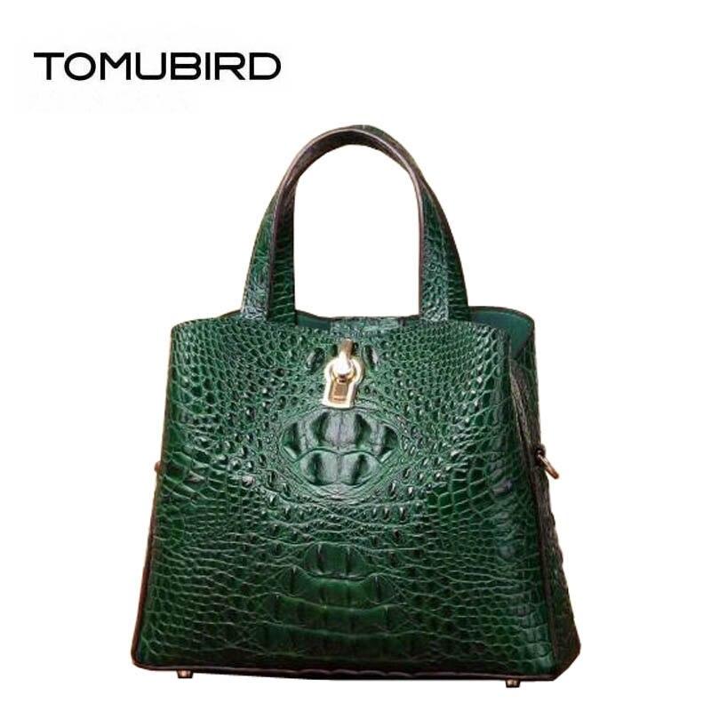 2018 New women genuine Leather bags superior cowhide women Leather bags Crocodile pattern bags handbags women famous brands цена