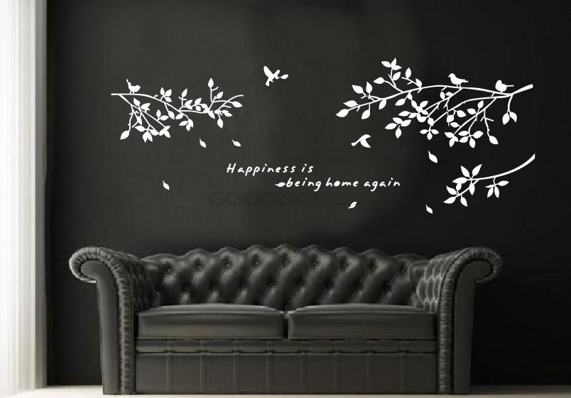 Living Room Decals wallpaper home decor picture - more detailed picture about new