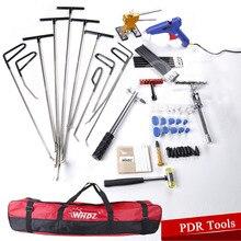 Auto Body Dent Removal Pdr Rod Tool Kit – Door Ding Repair Starter Set PDR Slide Hammer Gule Gun Dent Hammer Tap Down