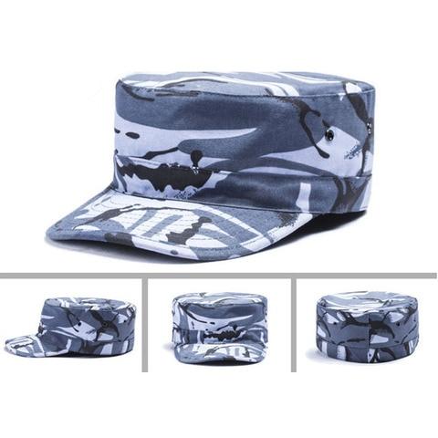 Militar do Exército Lanbaosi Cadet Patrol Bdu Combate Caça Ranger Headwear Exterior Respirável Flat Top Sombrinha Y50 Hat Cap