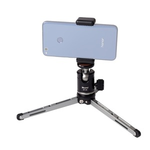 Image 3 - XILETU MT26+XT15 Aluminum Alloy Desktop Bracket Mini Tabletop Tripod with Ball Head For DSLR Camera Mirrorless Camera Smartphone