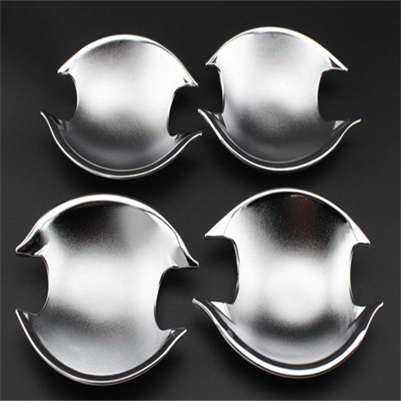 For Mitsubishi Asx 2013 2014 2015 ABS Chrome Auto Cover Car Styling Door Handle Bowl Cover Door Handle Protector Cover 4pcs/set