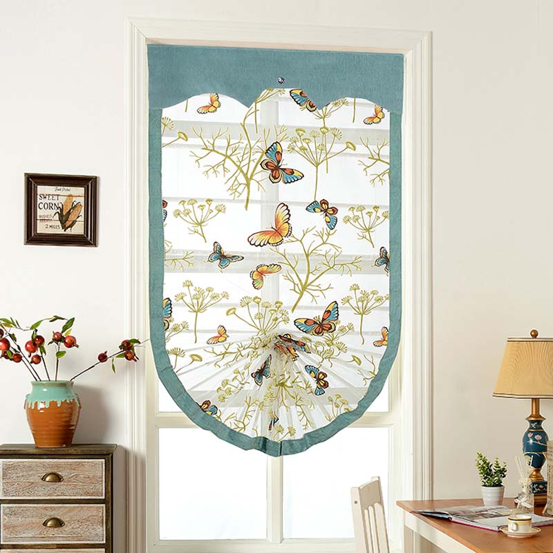 High Quality Butterfly Roman Blackout Blinds Curtains For