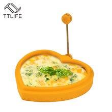 TTLIFE Форма для яиц силиконовые в форме цветка Круглый Сердце Звезда блинница яиц форма для детского завтрака Эфирная форма для яичницы