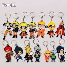 1 stks Stripfiguur Comics Naruto Sleutelhanger PVC Anime Figuur 3D Dubbele Side Key Ring Sleutelhanger Kid Toy Key houder Trinket Gift(China)