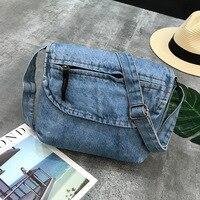 Модные Винтажные джинсы клапаном простые джинсовые женские сумки через плечо кошелек сумка carteira bolsa feminina