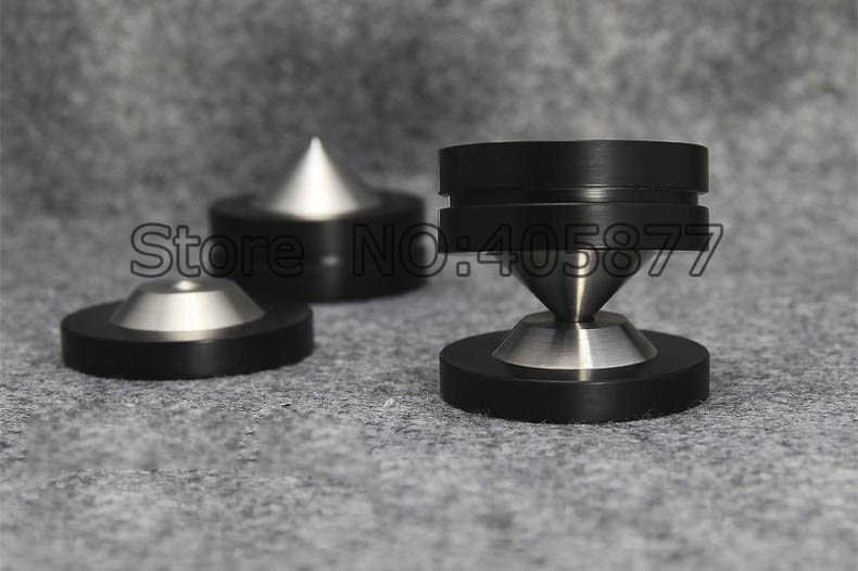 4SETS 39MMX26MM Speaker AMP Spike Cone & 4 Base Isolation Feet Improve Audio Sound Quality-in Electrical Plug from Consumer Electronics    3