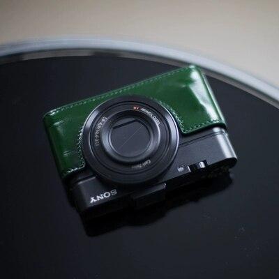 2018 nouveau Cuir Véritable fond protection Cas Caméra Cas de Couverture De Sac pour Sony RX100 VI M6 DSC-RX100M6 RX100M6 spécial Caméras