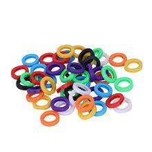 50 шт./компл. маленький Размеры ID определить кольцо для ключей Кепки тег разные цвета