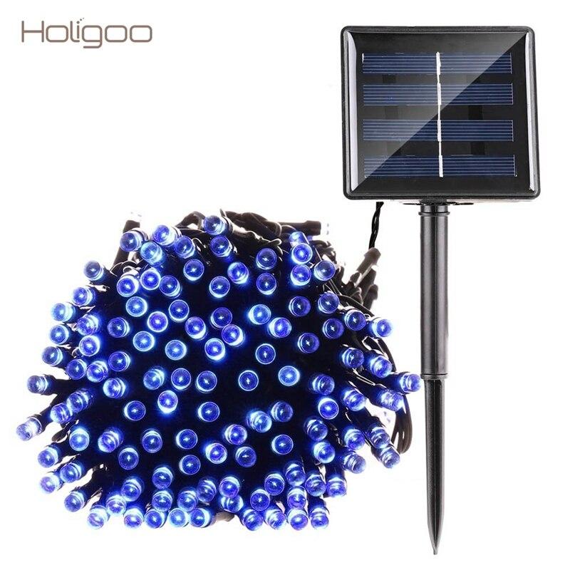 Holigoo 100/200 LED Solaire Lumière De Noël Cordes Fée Guirlande Lumières Clignotant pour la Partie De Mariage Décoration Jardin Lumière Extérieure