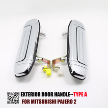 1 PC typ A chromowana klamka dla Mitsubishi Pajero 2 akcesoria V31 V32 V33 V43 V44 V45 V46 1991 1999 1996 1998 1992