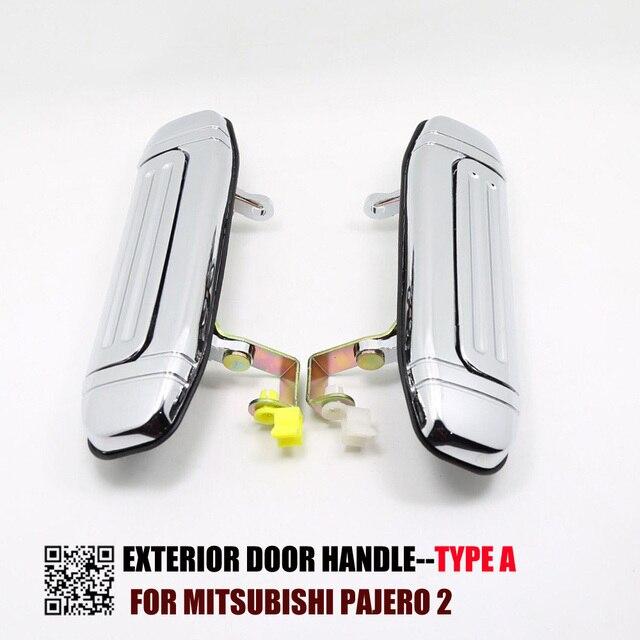1 ST TYPE Een Chrome Deurklink voor Mitsubishi Pajero 2 Accessoires V31 V32 V33 V43 V44 V45 V46 1991 1999 1996 1998 1992