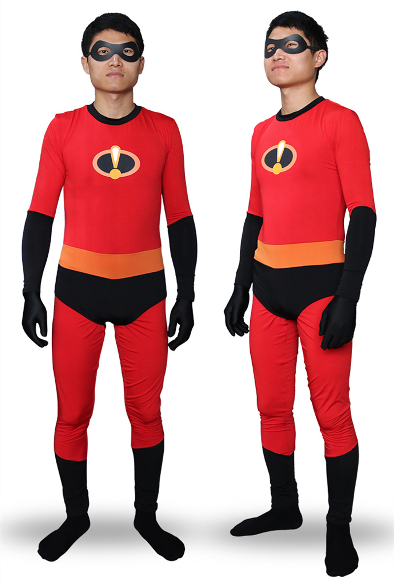 The Incredibles 2 Mr. Incredible Costume Bob Parr Cosplay Costume Full Set Jumpsuits with eyemask free
